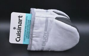 Cuisinart Mini Oven Gloves Mitts In Grey With Heat Resistant Silicone
