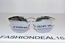 f76000e14323 New Christian Dior AUTH Nebula 0100T Silver Purple Mirrored 54-16-145  Sunglasses