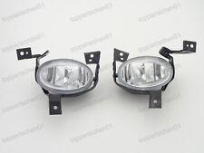 1Pair Clear Bumper Fog Lights Lamps +Brackets for Honda CRV 2010-2011
