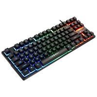 K87 USB Wired 87 Keys Mechanical Feeling RGB Backlight PC Gaming Keyboard #JT1