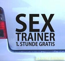 Sex trainer Aufkleber Blitzer Bußgeldstelle TÜV dapper static hand wash only NFC