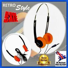 Vintage Stereo Headset Ear Retro 80s Pad Music Walkman Headphones PC MP3 Sports