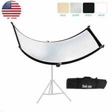 Gold Silver White Black Curved Reflector Reflective Plate Photography Portrait