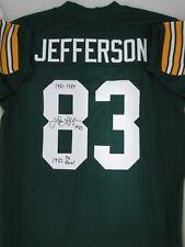 Packers JOHN JEFFERSON Signed Home Green Custom Jersey AUTO w/ 1982 Pro Bowl