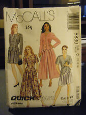 McCall's 5830 Misses Unlined Jacket & Split Skirts Pattern - Size 10/12/14