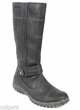 Hush Puppies Stiefel 37 KunstLEDER Boots Schwarz Anti Shock Flex Zone Schuh NEU
