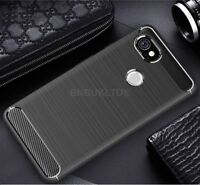 For Google Pixel 2 XL Carbon Fibre Gel Case Cover Ultra Slim Shockproof Hybrid