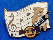 OSAKA MUSICAL NOTES SCORE MUSICIAN BEAR KEYBOARD GUITAR Hard Rock Cafe PIN LE