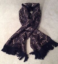Dries van noten gold and navy scarf