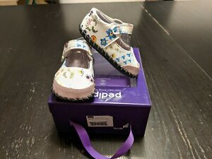 NIB Pediped Louisa White Floral Baby Girl Shoes 0-6 Months