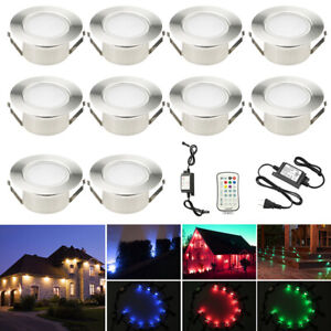 RGB+Warm White 61mm Waterproof LED Deck Step Soffit Lights Recessed Garden Lamp
