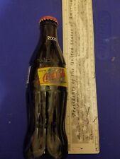 2002 WORLD OF COCA COLA  ATLANTA NEW Full 8 OUNCE COCA - COLA GLASS  BOTTLE