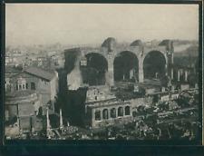 Italie, Rome, Vue du Forum, ca.1900, Vintage silver print Vintage silver print