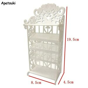 1Set Doll Shoes Rack Dollhouse 1/6 Doll Accessories For Barbie Doll Furniture