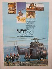 4/1976 PUB AEROSPATIALE HELICOPTERE PUMA SA 330 HELICOPTER ARMEE FRANCAISE AD