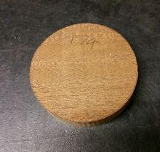 Mahogany  woodturning bowl blank  (174) (105mm x 26mm)