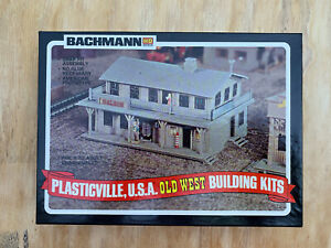 Bachmann Plasticville Old West Saloon and Barber's Shop HO Scale Building Kit