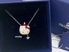 Swarovski Hello Kitty Holiday Santa Necklace, Crystal Authentic MIB - 1145289