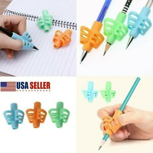 Pencil Grips for Kids Handwriting HAWOWZ Writing Aid Gripper Trainer Finger Grip Posture Correction Tool for Children Preschooler 8 Pack Pencil Grips