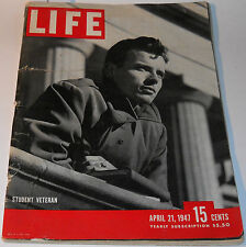 Life Magazine April 21 1947 Student Veteran The P:rinces Of India Mahatma Gandi