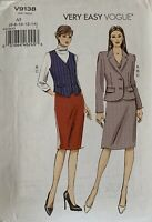 Vogue Very Easy Skirt Suit Sewing Pattern V9138 & Dress Label Uncut Size 6-14