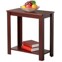 Chair Side Table Narrow End Table Small Spaces Side Table Slim Chairside Table