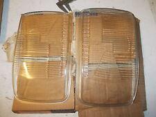 2 X VETRO FANALE ANTERIORE NSU TIPO TYP 110 FRONT LIGHT GLASS HELLA
