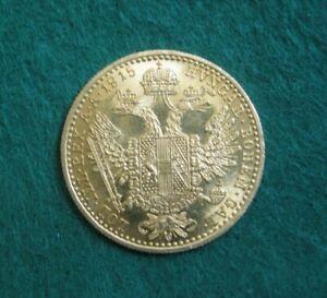 Antique / Vintage 1915  Austrian / Dutch One Ducat .986 Gold Coin