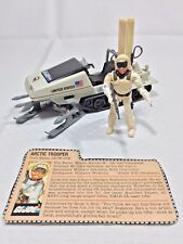 Vintage GI Joe Snow Job w Polar Battle Bear Ski Mobile 1983 Hasbro 100% Complete