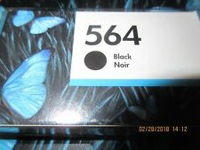 HP 564 Black Ink Cartridge CB316WN Genuine EXP  01/2018