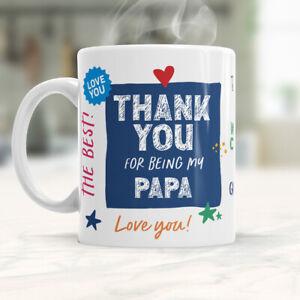 Papa Gift Mug Present Keepsake I Love Novelty Cup For Birthday Christmas Xmas