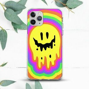 Melting Happy Face Trippy Rainbow Case For iPhone 7 8 X SE 11 12 13 Pro Max XR