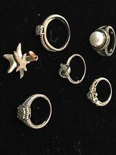 sterling silver & diamonds ring lot