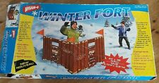 "WHAM-O WINTER FORT 84"" x 36"" VINTAGE PLASTIC WALL WITH FLAGS"