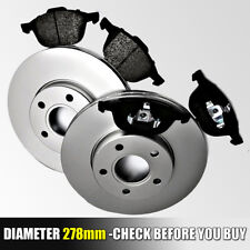 FORD FOCUS Mk2 FRONT BRAKE DISCS & AND PADS 1.4 1.6 1.8 2.0 TDCI 04-2011 278MM!!
