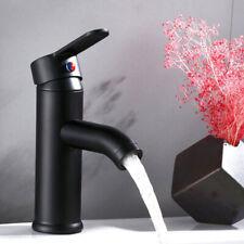 Bathroom Black Basin Sink Faucet Single Handle One Hole Washing Mixer Tap