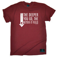 Scuba Diving T-Shirt Funny Novelty Mens tee TShirt - The Deeper Better Feels