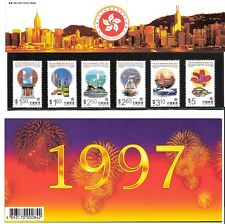 1997 EStablishment of Hong Kong SAR Stamp Set on Beautiful Holder MNH