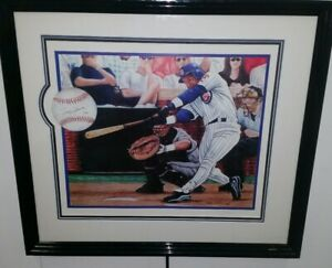 Sammy Sosa Signed 18x24 Framed Steve Hoskins Lithograph COA 15/66
