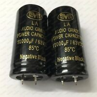 2/Lot NOVER 10000UF 63V 85°C CAP LA AUDIO GRADE POWER CAPACITOR (30*60MM)