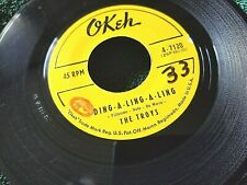 The Troys DING A LING A LING 45. 1959. OKEH 7120 Vintage, rare