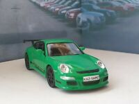PERSONALISED PORSCHE 911 GT3RS GREEN 4.5'DIECAST MODEL CAR BOXED NEW BOYS TOYS