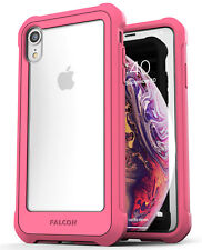 iPhone XR Clear Protective Case, Full Body Transparent Cover (Falcon) Pink