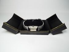 Watch Bracelet Gift Box Jewelry Organizer Black Leatherette Case Storage