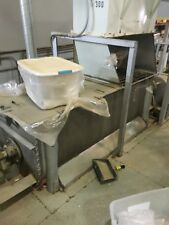 Used- Double Stainless Ribbon Blender, Approximately 36 Cubic Feet Working