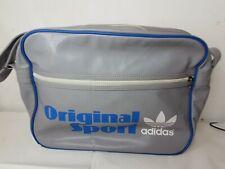 Retro Vintage Grey And Blue Adidas Originals Messenger Shoulder Sports Bag