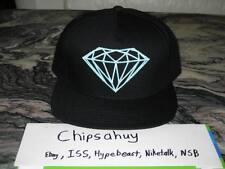 Diamond Supply Co Snapback Blue Diamond Dunk Black Hat Cap Rock USA DS OSFA