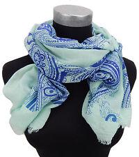 Damenschal türkis blau by Ella Jonte Oriental türkiser Schal neue Saison leicht