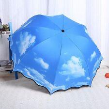 1XCreative Outdoor Compact Folding Umbrella Anti UV Rain/Clear Sun Shade Parasol