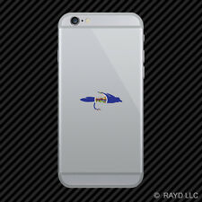 Kansas Fly Fishing Cell Phone Sticker Mobile KS fish lure tackle flies